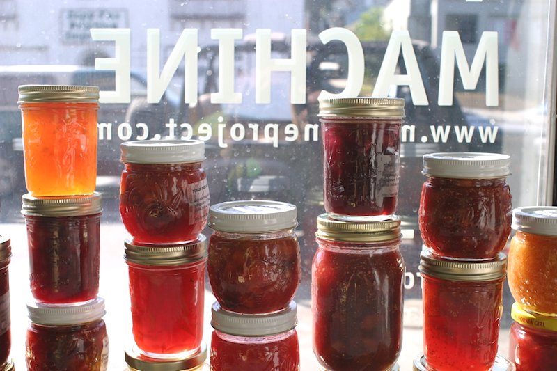 Public Fruit Jam window at Machine Project